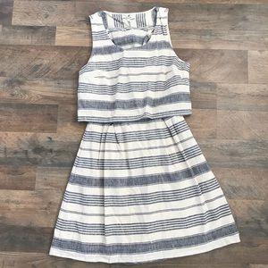 Madewell stripe overlay dress size 4